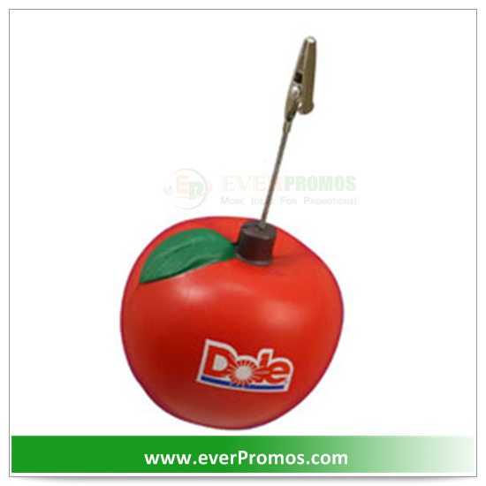 PU Material Apple Memo Holder For Promotion