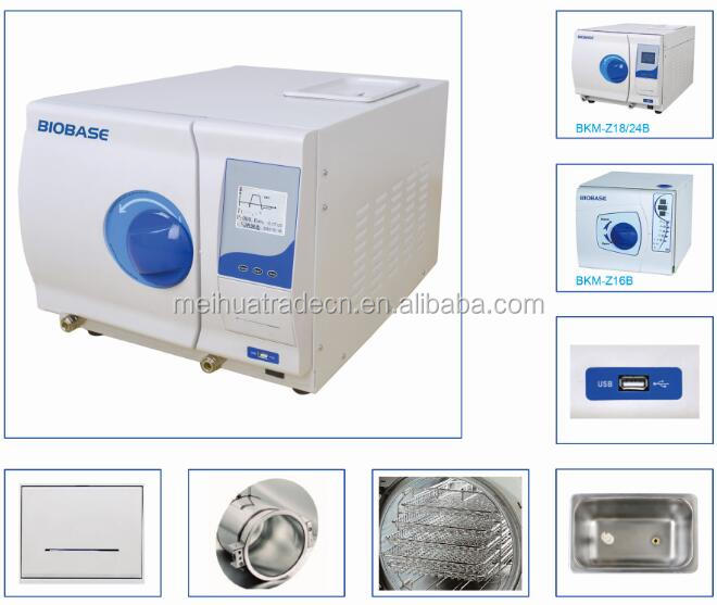 BIOBASE Hot sale Tabletop Digital Display Class B Vacuum Drying Autoclave