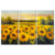 3 Pieces Oil Painting On Canvas Wall Picture Sunflowers For Living Room Unique Gift Hang Pictures Decor