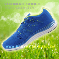 2015 adult trainning shoe sport brand name, fashion fly fabric running shoe for male, spring tennis shoe for female