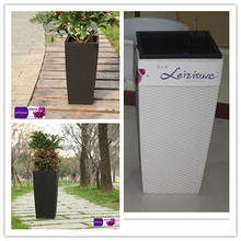 Classic series rattan weaving plastic flower pot TB05 series