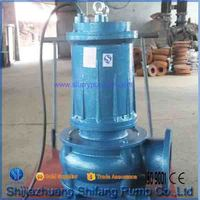 Submersible sewage water pump with electric motor