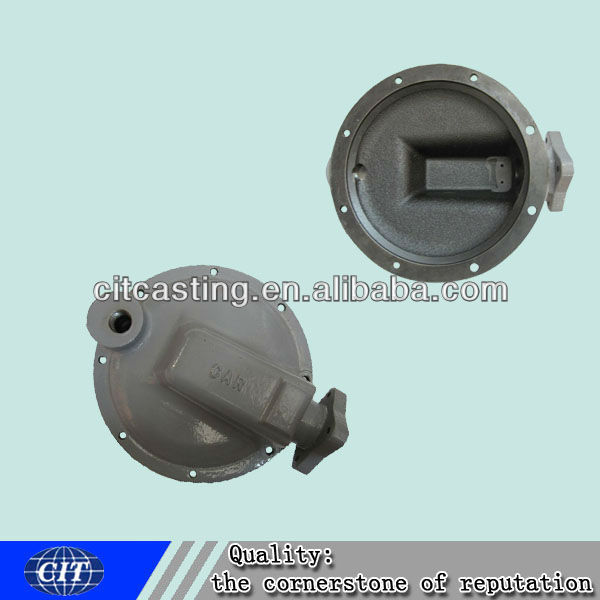 resin sand casting ductile iron valve casing cover for pipeline