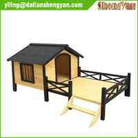 cheap custom heated Wooden Dog House kennel