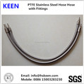 PTFE Stainless Steel 304 hoses with NPT fittings 1/4''