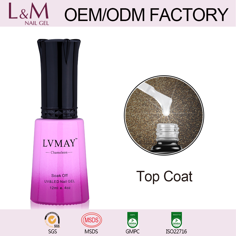 LVMAY Soak off Chameleon changing color Gel Polish base&top coat