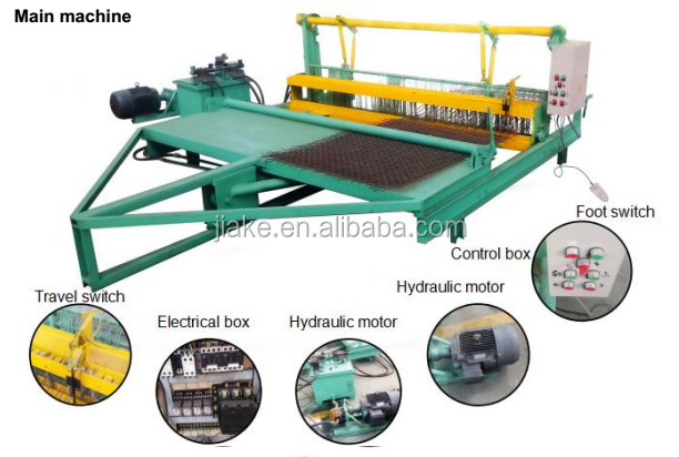 Hydraulic pressure crimped wire mesh weaving machine semi automatic