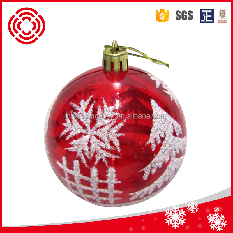 BSCI Factory Directly sale 10cm clear plastic christmas ball