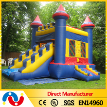 2015 Top Commercial Cheap Inflatable Combo Bouncer Jumping Castle , Inflatable Bouncy Castle with Slide