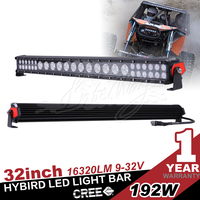 32 inch 192W Hybrid led light bar,3w 10w xp-g chip,off road 4x4 use ,five colored flood lens