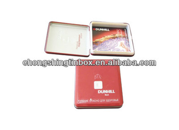 Decorative cigarette tin box from tin can manufacturer in Dongguan