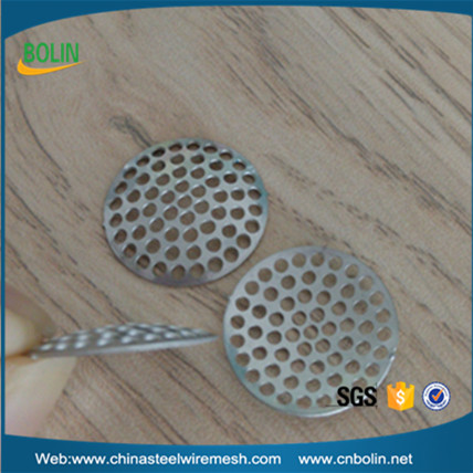 Hookah vaporizer 1.5mm hole size stainless steel 304 concave water smoking tobacco pipe mesh filter screen