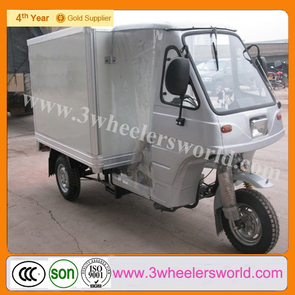 China manufacturer van cargo tricycle with cooling box/three wheeler cargo van