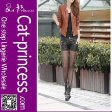 Sexy women leather blazer clothing wholesale