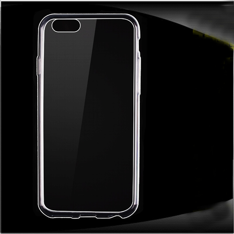 2017 Cell phone accessory Ultra Thin Clear Crystal Gel Soft rubber case for iphone 6 ,mobile phone case for iphone 6 64G CASE
