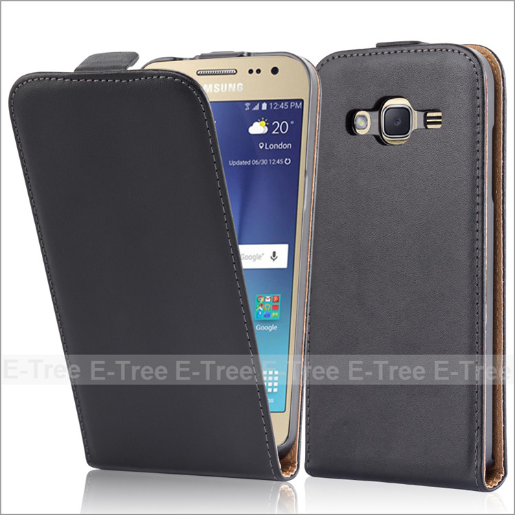 Classical Magnetic Flip Genuine Leather Case Cover For Samsung Galaxy J2