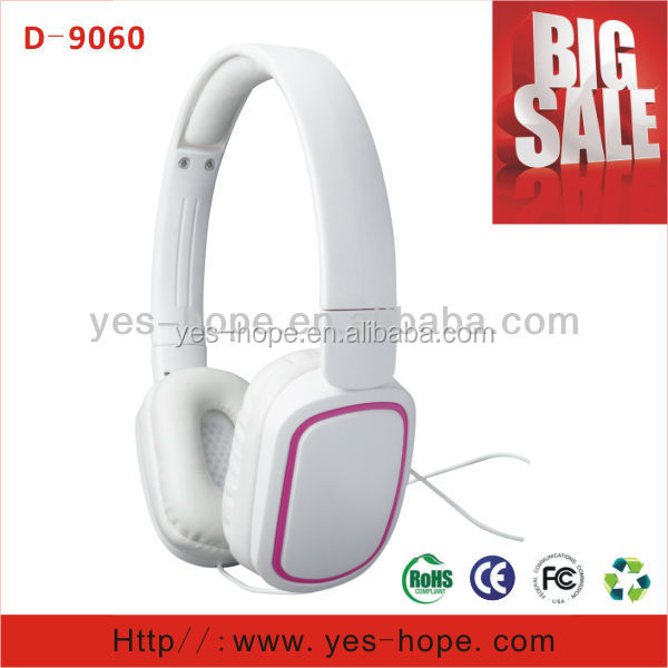 China best headphone dj headset with mic head phone with big ear cover