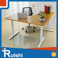 Adjustable Height Sit Stand 3-Leg L Shaped Table