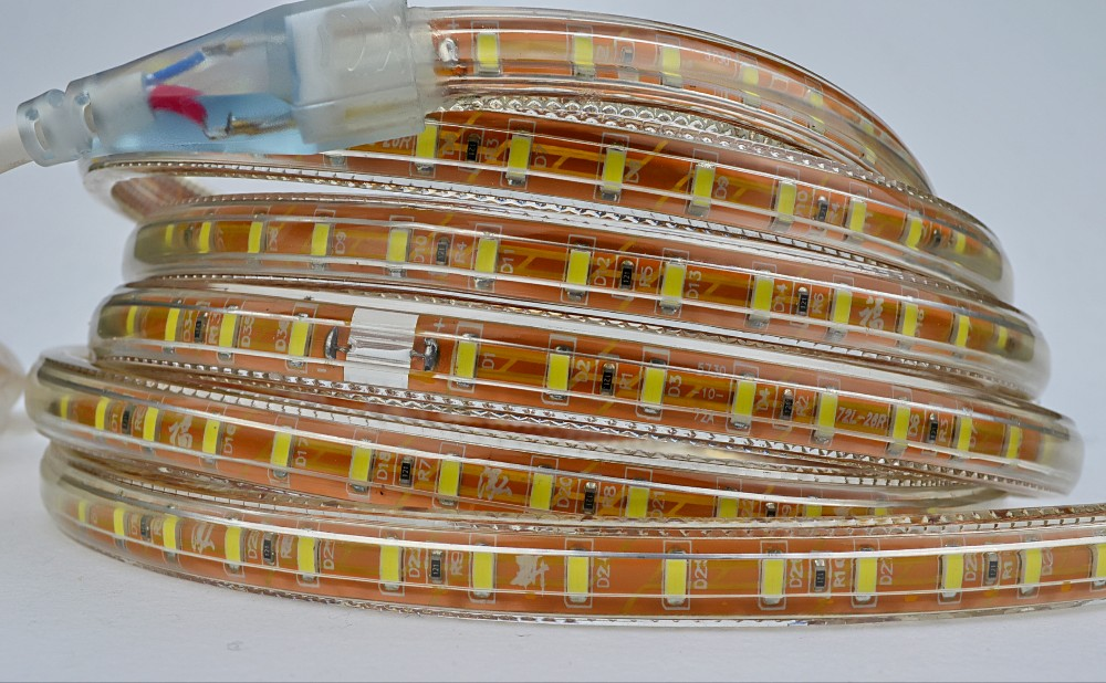 Factory direct sale SMD5730 led strip light with high pressure PVC flexible light string