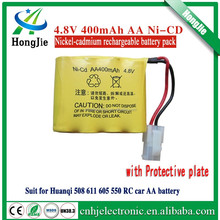 4.8V 400mAh Ni-Cd rechargeable battery pack huanqi 508 611 605 550 remote control car AA batteries
