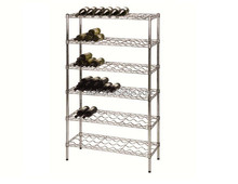 Wholesale Chrome Metal Tall Metal Wine Rack , NSF Approval