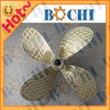 copper material fixed pitch marine 4 bladed propellers