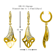 Pure 14K 18K Platinum Gold Earring Custom Jewelry Wholesale China