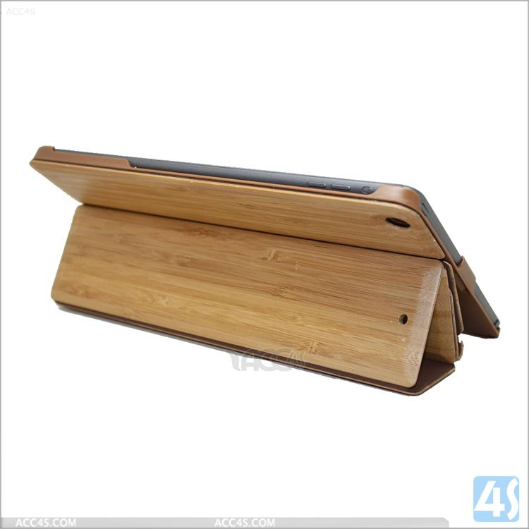 wholesale low price bamboo case for ipad 5 cover wood high quality with sleep function