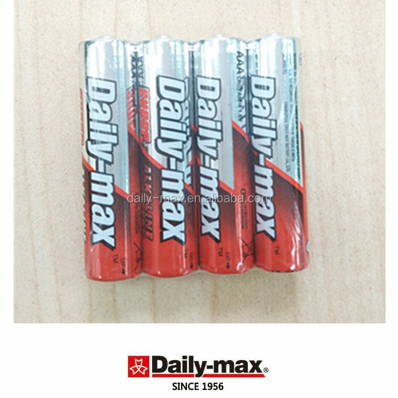 AM4 SIZE AAA LR03 4B Alkaline Battery