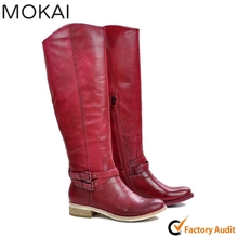 MK25-11 women leather boots ladies handmade boots low price