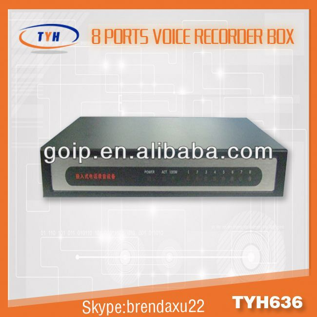 8 Line phone voice recorder/call recorder box,recording caller id phone