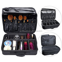 Travel Makeup Bag, Multifunctional 3 Layer Train Cosmetic Case Make Up Bag Organizer Kit Professional Makeup Set with Carry Hand