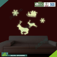 Non-toxic halloween eco friendly removable custom glow in the dark bedroom decor