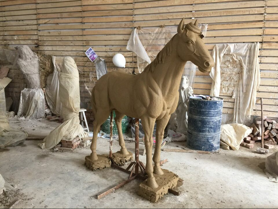 art work quality life size metal casting bronze garden running horse sculpture for park garden NTHJ-02