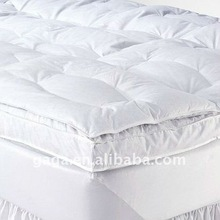 Down on top double layers feather bed/ mattress topper