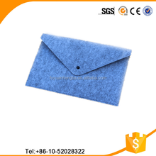 Alibaba new design envelope shape felt laptop bag blue felt pc case