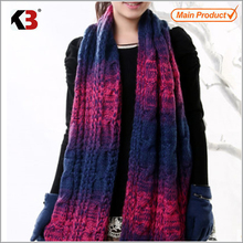 Excellent quality knitted men women cotton scarf 2016 color scarf
