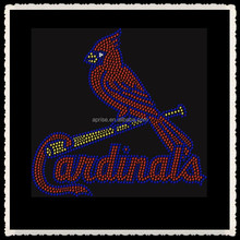 Aprise - MLB St.Louis Cardinals Baseball Sports Team Rhinestone Hot Fix Iron On Transfer