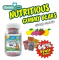 2016 newly GMP certified multi-vitamin HALAL gummy bear candies