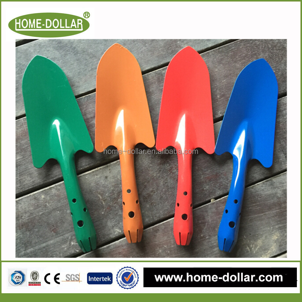 Colorful supe soft handle mini lady kids garden metal shovel