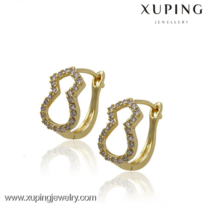 29531 xuping superstar accessories earrings, 14k gold color butterfly earrings