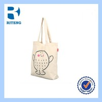 Popular Double Layer handle eco canvas bag blank