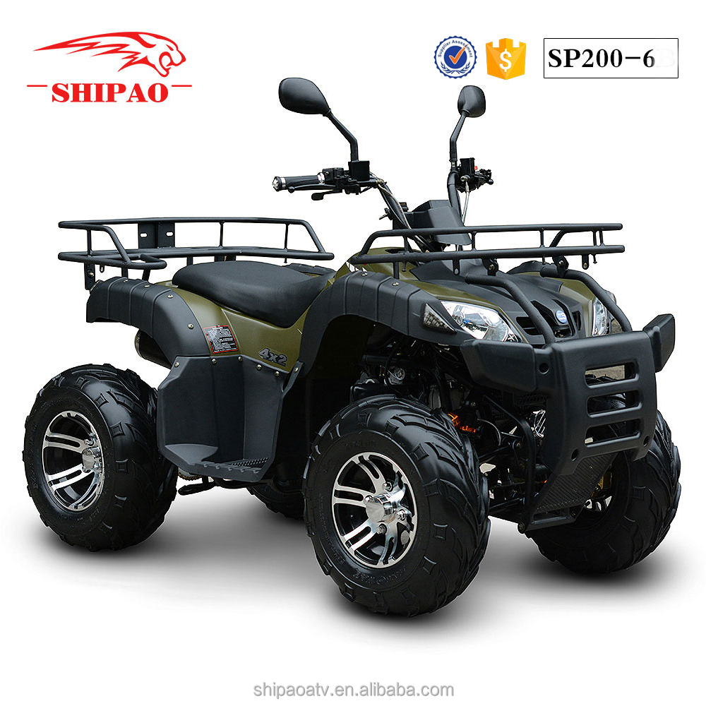 SP200-6 automatic atv 200cc for sale with free spare atv parts