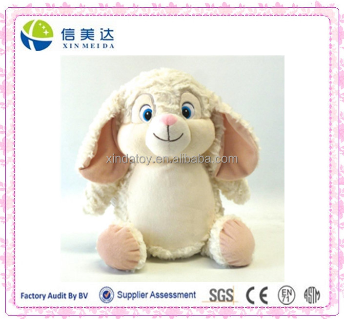 Beige Plush Easter Rabbit Toys