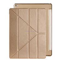 Comfortable Multi Angle Views leather flip stand smart case transformer cover for ipad pro 9.7 inch