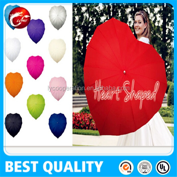 Ladies Umbrella Heart Shaped & Wind Resistant with Matching Crook Handle