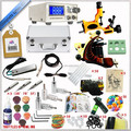 New Pro Complete Tattoo Kit 2 Machine Gun Supply Handle Needle Set Equipment