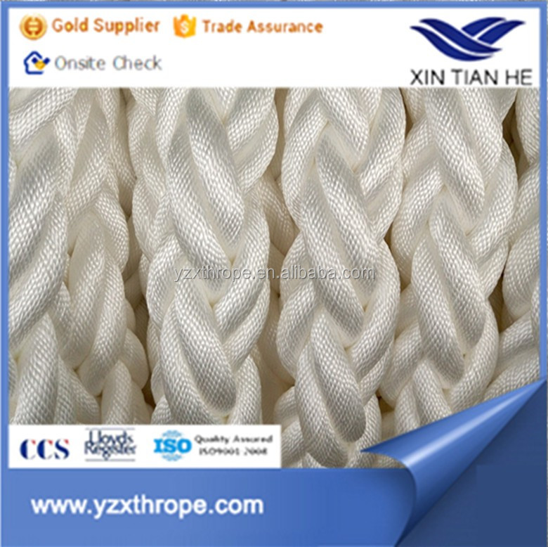 Wholesale 3inch diameter 8 strand polyester rope mooring rope