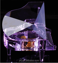 hottest Purple crystal piano music box for gifts