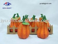 harvest beaded styrofoam pumpkin
